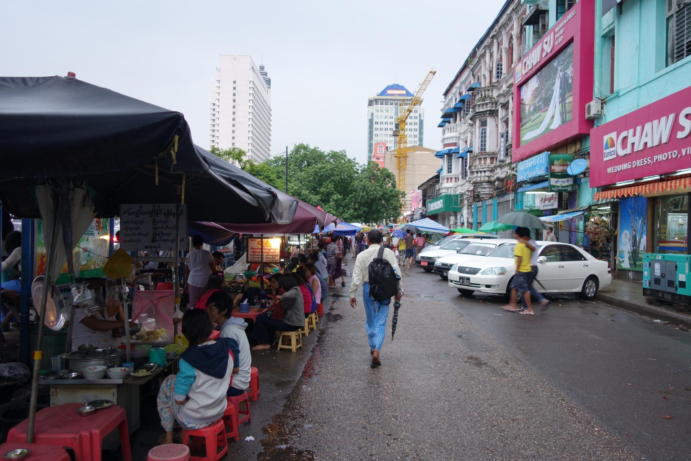 ヤンゴン屋台通り