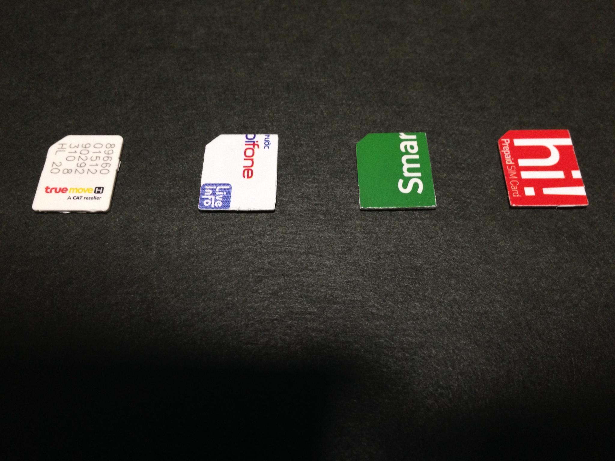 いろんな国のSIMカード